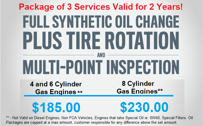 2 Year / 3 Oil Change and Rotation Package Deal